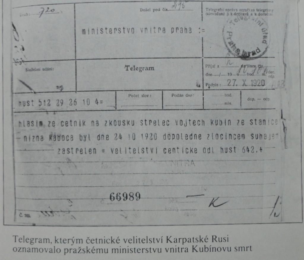 8.Telegram_se_zaznamem_o_smrti_ceskeho_cetnika_Vojtecha_Kubina
